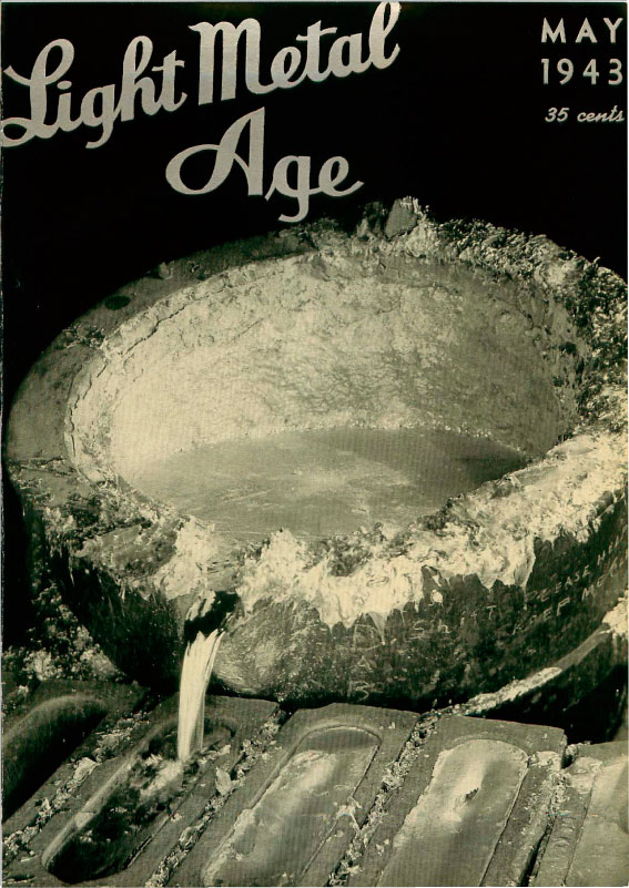 Light Metal Age's first edition cover from May 1943