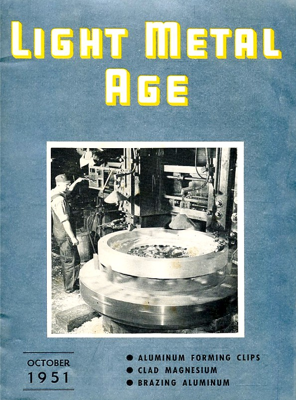 October 1951 Light Metal Age Magazine