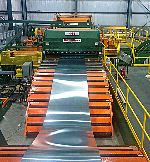 New cut-to-length line supplied to Champagne Metals.