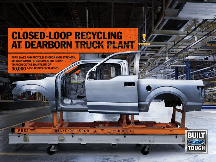 Ford F-150 recycles aluminum