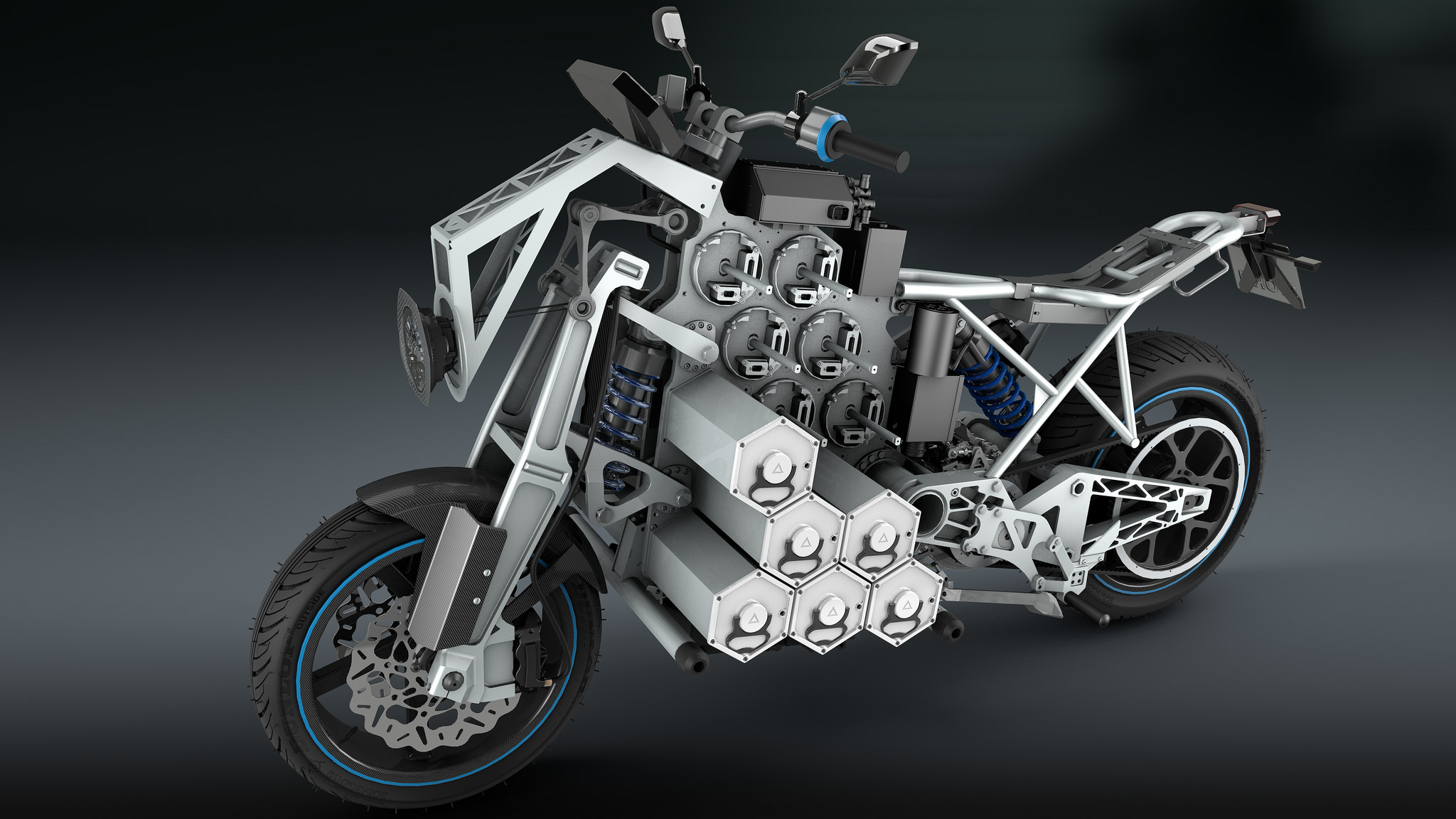 Individual battery cells can be added or removed to either improve range or lighten the overall weight of the motorcycle. (Image: STORM Eindhoven.)