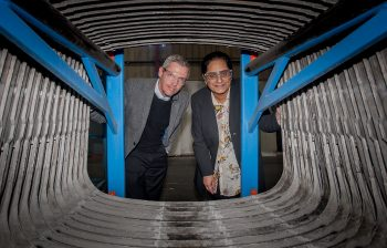 Randy Chalmers, Meridia, and Professor Hanifa Shah, Birmingham City University.