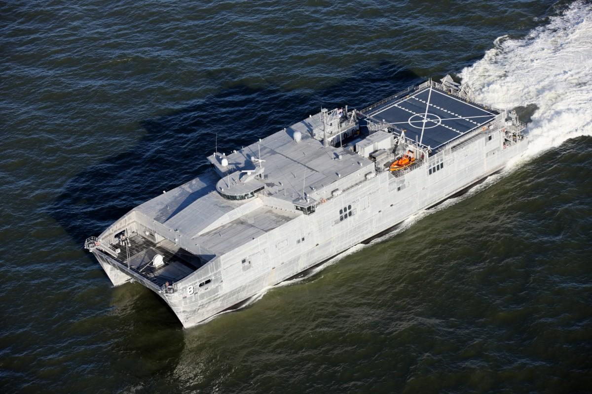 Austal Delivers Aluminum Epf Catamaran To U S Navy