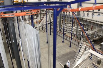 Gateway Extrusions New Vertical Powder Paint Line