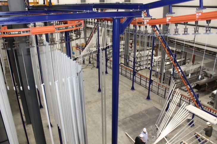 Gateway Extrusions New Vertical Powder Paint Line
