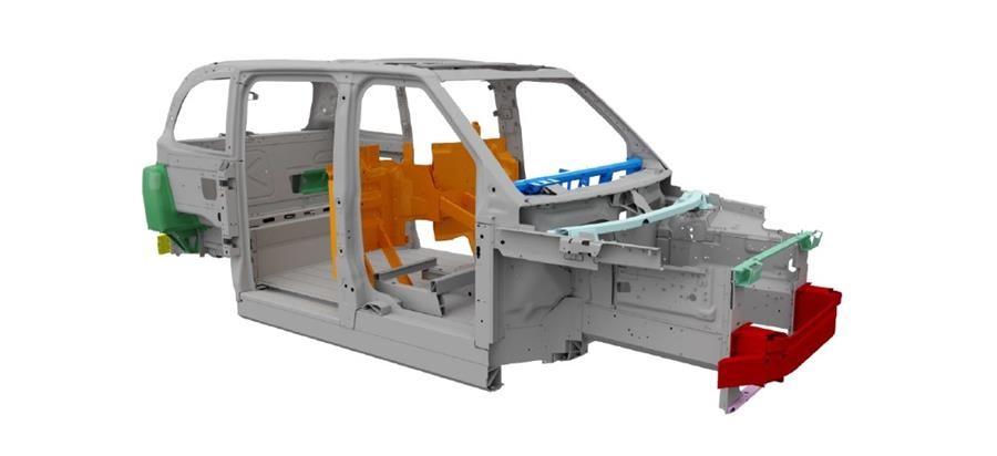 LEVC TX5 - aluminum structure