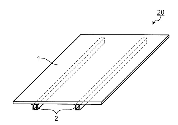 US9537443 — REINFORCING FRAME AND SOLAR BATTERY MODULE