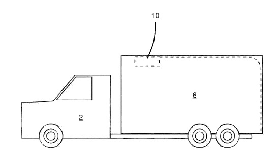 US9610830 — AUTOMATIC DOOR OPENER FOR DELIVERY TRUCKS