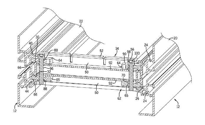 US9617078 — CONVEYOR FRAME ASSEMBLY WITH CROSS SUPPORTS