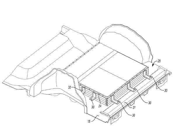 US9636984 — INTEGRATED EXTRUDED BATTERY ENCLOSURE ATTACHMENT