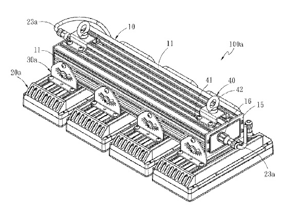 US9857037 — ASSEMBLING STRUCTURE FOR LED LUMINAIRE