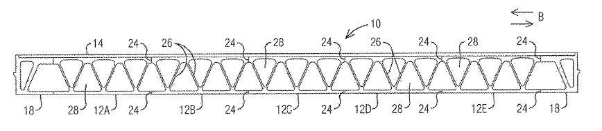 US9863103 — MODULAR BRIDGE DECK SYSTEM CONSISTING OF HOLLOW EXTRUDED ALUMINUM ELEMENTS
