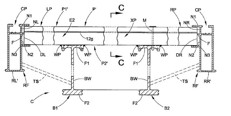 US9399492 — PLATFORM TRAILER WITH EXTRUDED FLOOR PANEL CROSS MEMBERS