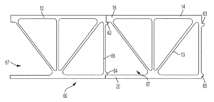 US9915046 — SELF ALIGNMENT STRUCTURE FOR APPLICATIONS JOINING EXTRUDED MEMBERS
