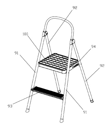 US9926742 — TOP STEP FOR ALUMINUM LADDER