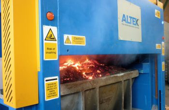 ALTEK's automated salt slag press