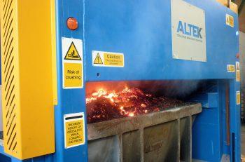 ALTEK's automated salt slag press