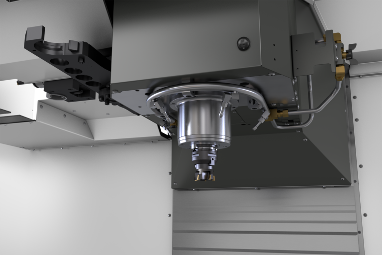 The new HaasHaas vertical machining center.