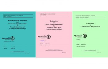 Aluminum Association Updates Registration Records – Teal, Pink and Light Green Sheets