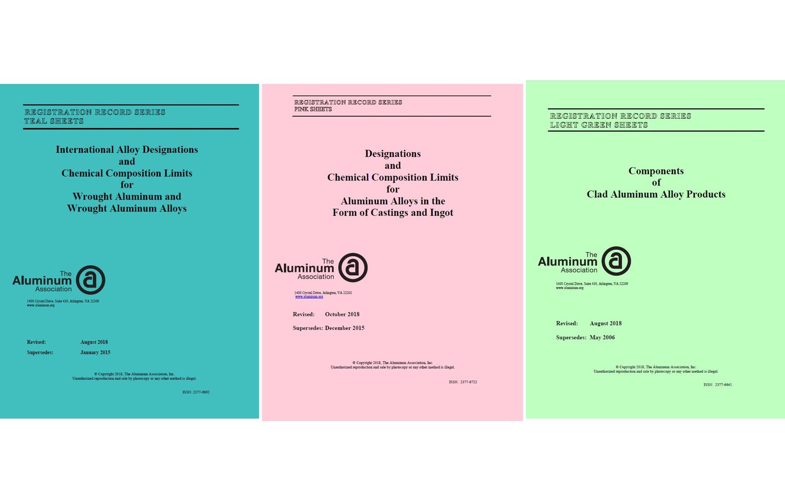 Aluminum Association Updates Registration Records – Teal, Pink and