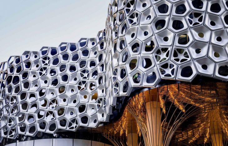 UAP - aluminum art facade