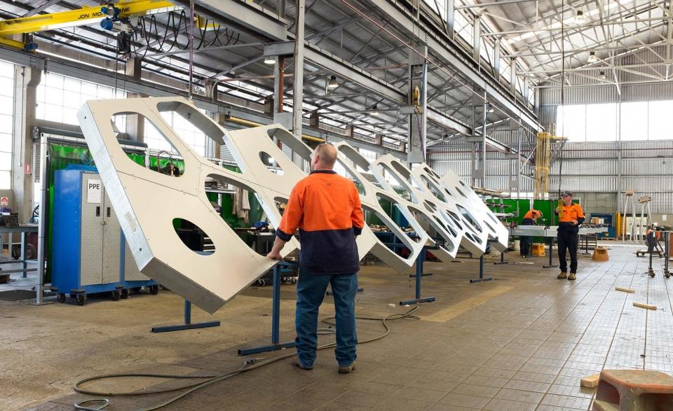 UAP - construction of the aluminum panels