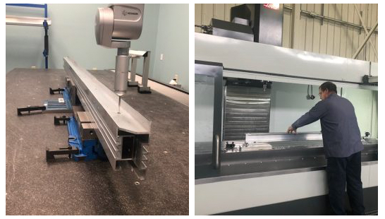 Vitex installed new fabrication equipment, including a Hexagon CMM (left) and a Haas CNC (right).