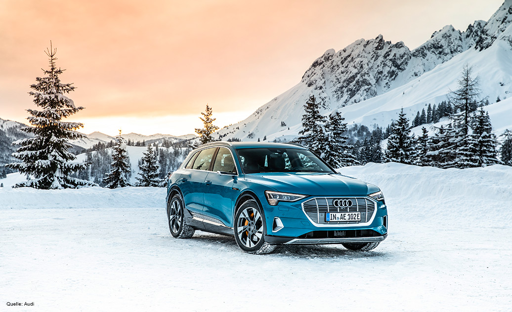 The new Audi e-tron features a battery tray manufactured from responsibly sourced aluminum sheet.