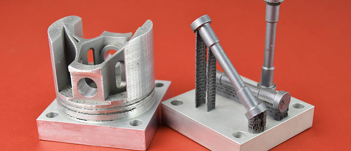 Figure 4. Additively manufactured high-strength aluminum parts. (Photo: HRL Laboratories.)