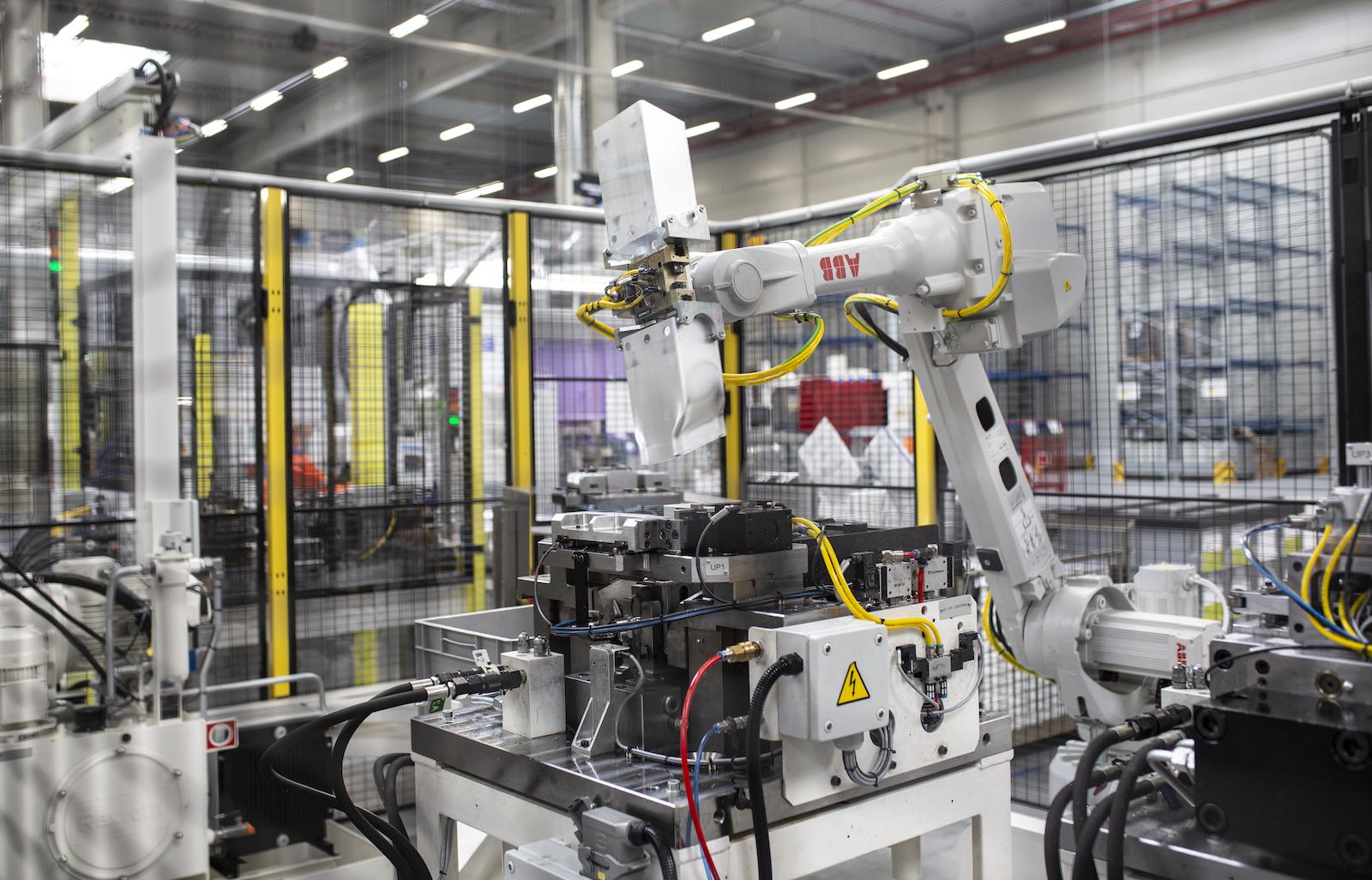 Figure 3. Manufacture of an aluminum crashbox at the Constellium Zilina facility.