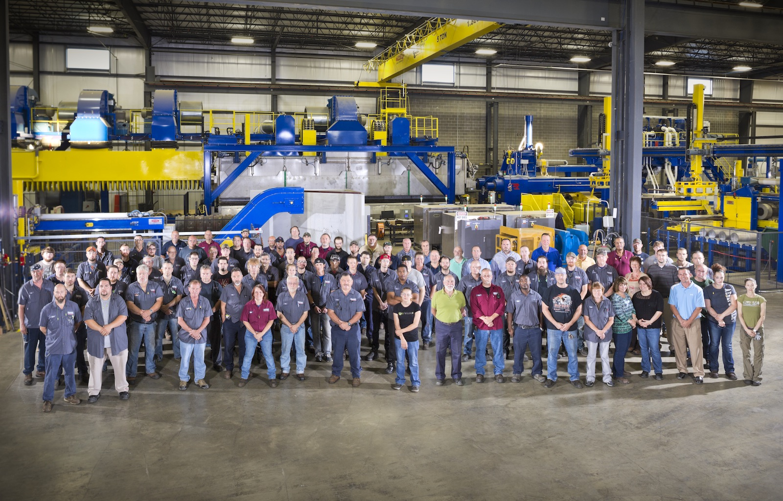 Opening of Pennex's new extrusion press line at Leetonia in 2015.