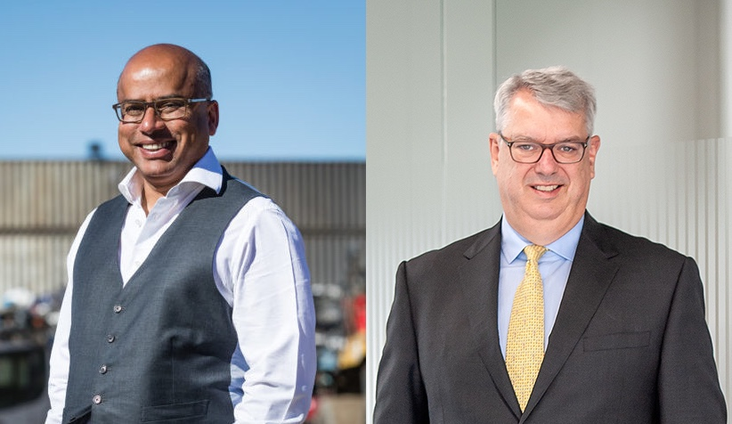 Sanjeev Gupta, chairman of GFG Alliance, and Arnaud de Weert, chief executive of ALVANCE