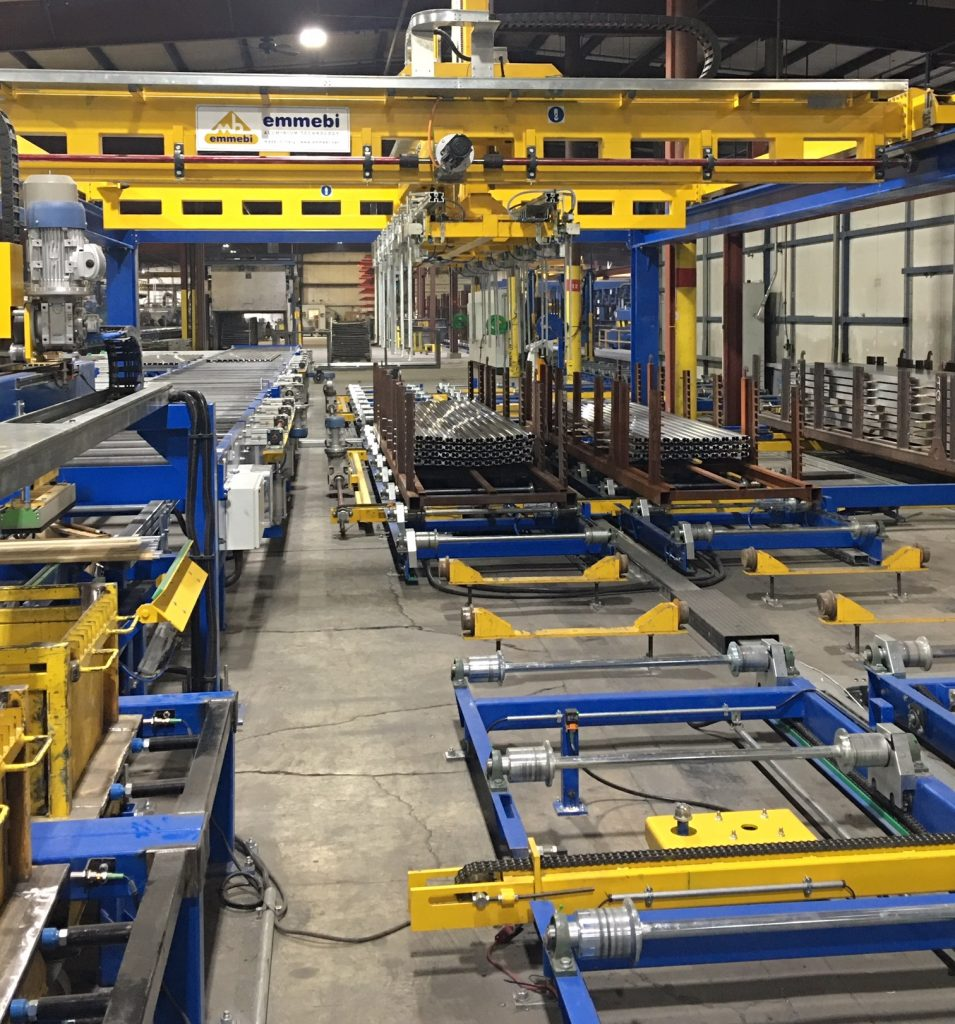 Figure 3. The new packing line includes automated stacking and de-stacking.