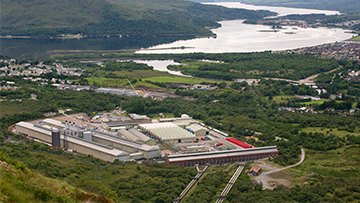 Lochaber smelter in Scotland.