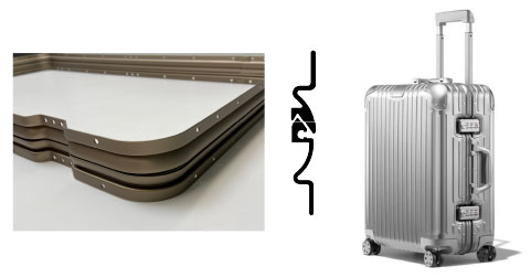 Figure 6. A continuous lineal as used in luggage framing. (Source: Almag.)