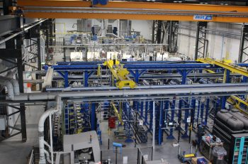 Figure 4. Flextreme production line installed in 2008, which has since been moved to the new expanded facility.