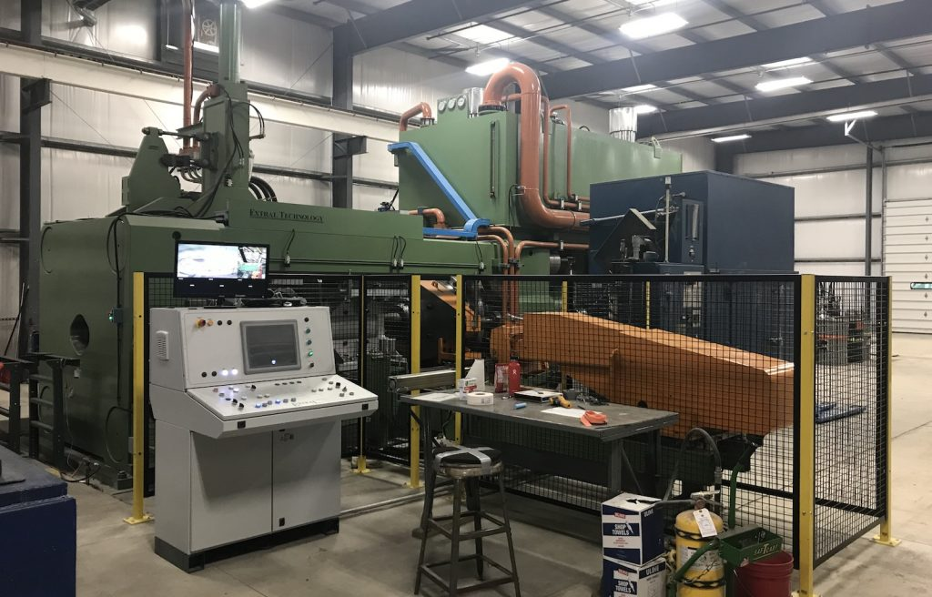 Figure 1. The new 3,500 MT, 9 inch extrusion press.