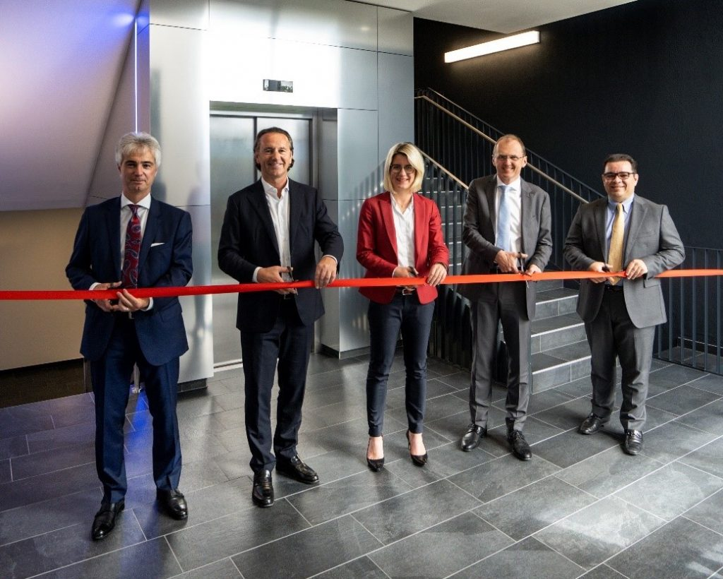 The official opening of the CMI was small, attended only by the AMAG management board (L-R): Dr. Helmut Kaufmann, chief operating officer;Herbert Ortner, chair of the board; _____;Gerald Mayer,CEO; andVictor Breguncci, chief sales officer.