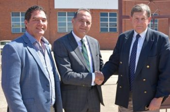 A-Tech Extrusion Systems submitted a development application in September 2019 (L-R): Tony Mileto, Orange City Council's Employment and Economic Development Committee chair; Barry Barakat, an A-Tech executive; and and Reg Kidd, Orange City mayor.