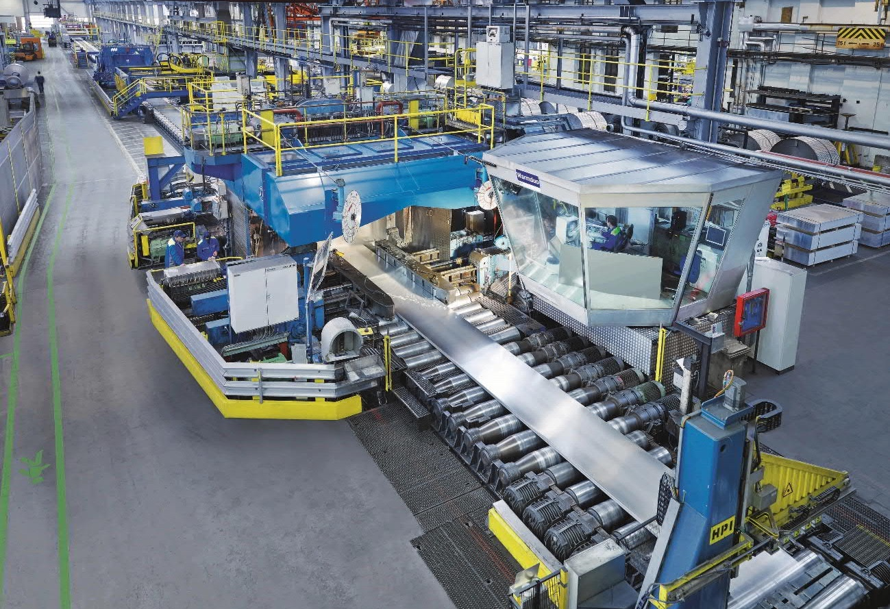 The two-high hot rolling stand at the AMAG, which will be equipped with new converter equipment. (Photo: AMAG rolling GmbH)