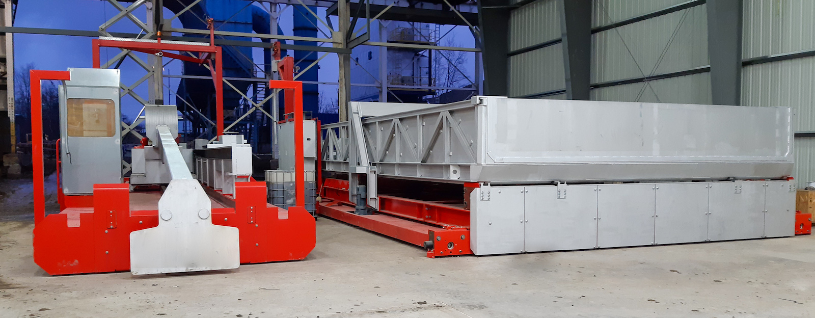 Figure 3. Automatic charging and skimming machines make the melting process more efficient and repeatable.