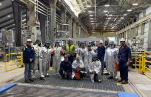 Figure 1. The Ellwood Aluminum team standing in the company's new aluminum casthouse.