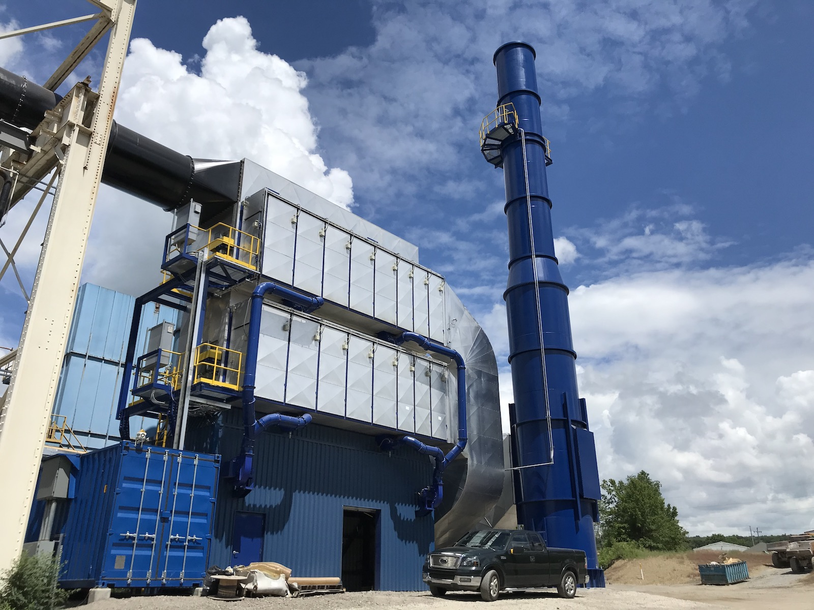 Figure 7. The air cleaning system and baghouse ensure a high level of air filtration from the aluminum recycling operation.