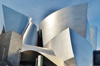 Anodized aluminum used on the Walt Disney Concert Hall.