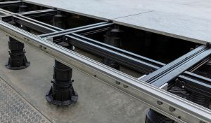 Buzon Pedestal International utilized Hydro EcoDesign to improve the gutter profiles in its product package, used here for the Hammersmith project in London.