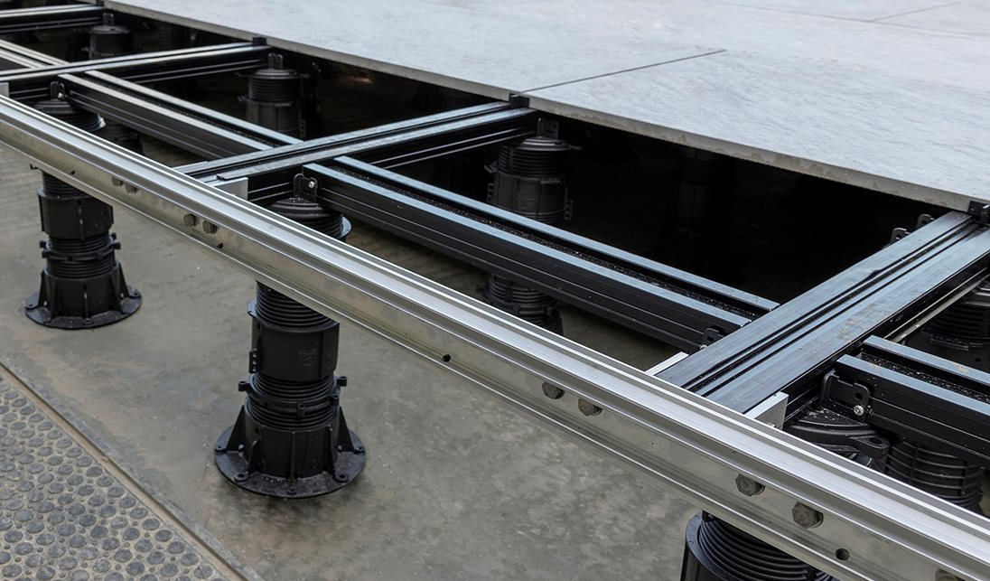 Buzon Pedestal International utilized Hydro EcoDesign to improve the gutter profiles in its product package, used here for the Hammersmith project in London. aluminum design aluminum extrusions