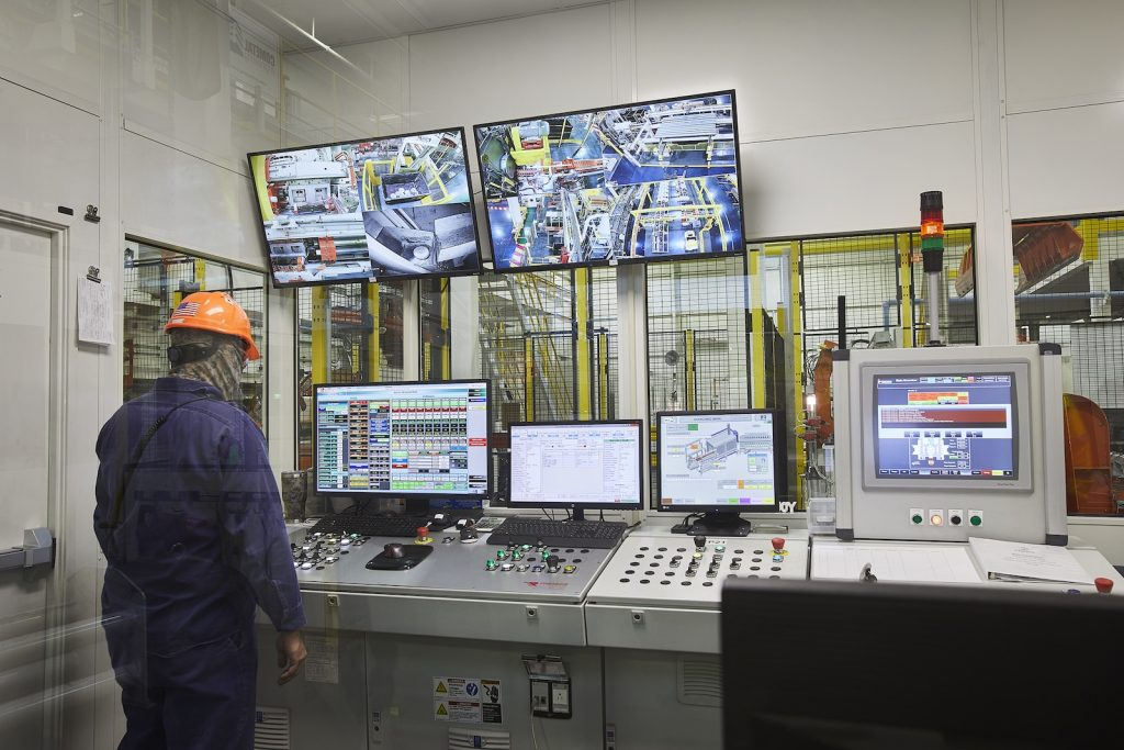 Figure 3. A central control room allows operators to observe the complete extrusion process.