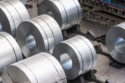 Aluminum coils in the press shop at the Audi site in Neckarsulm