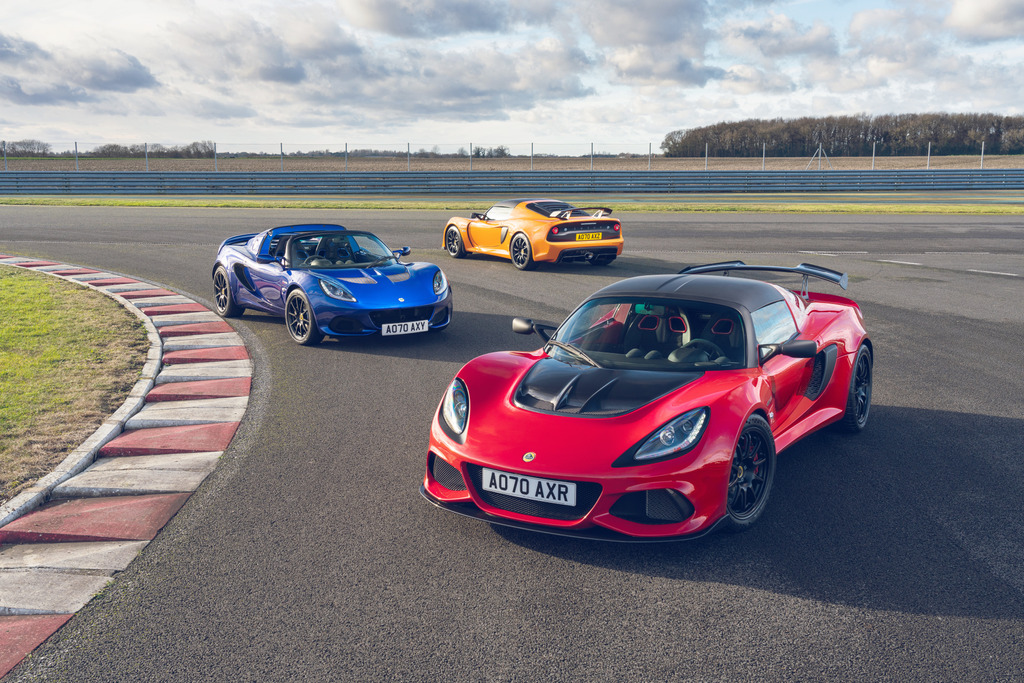 The Lotus final edition fleet includes new Elise and Exige variants.