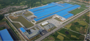 Aerial view of the Novels aluminum rolling and recycling facility in Zhenjiang, China.
